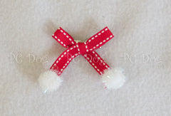 Red Christmas Hair Bow