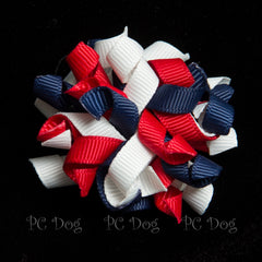 4th of July Curly Hair Bow