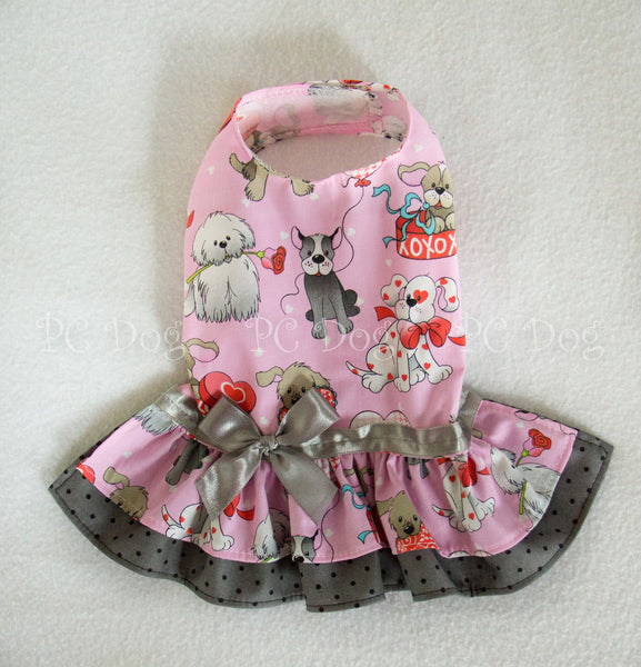 Puppy Love Valentine Dress (Clearance)