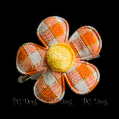 Orange Flower Hair Bow