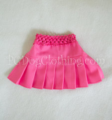 Bright Pink Twill Skirt