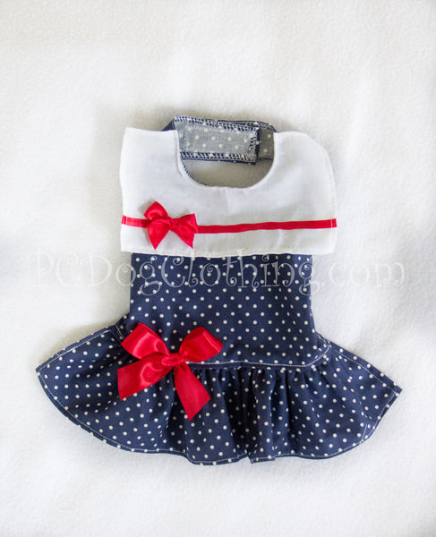 Drop Waist Sailor Girl Dress