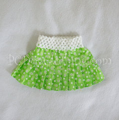 Little Green Flower Skirt