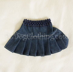 Denim Short Pleated Skirt