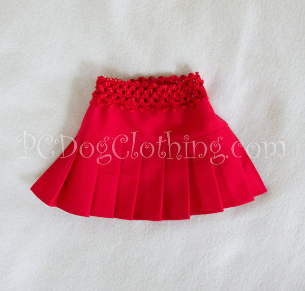 Red Twill Skirt