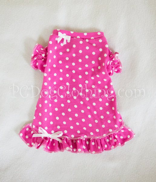 Bright Pink Polka Dot Nightgown
