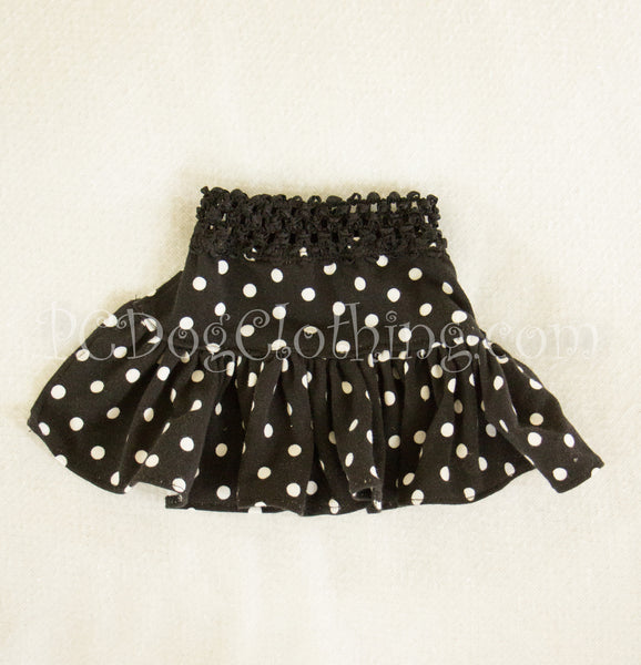 Black Polka Dot Knit Skirt(Limited Sizes Available)
