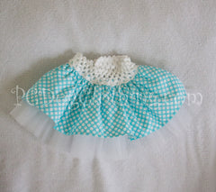 Aqua Dot Tulle Skirt