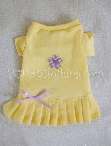 Baby Yellow T-Shirt Dress