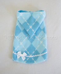 Baby Blue Diamond Sleeveless Hoodie Dress