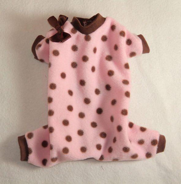 Pink & Brown Polka Dot Pajamas