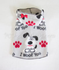 """I Woof You"" Hoodie Dress"