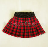 Red and Black Checked Skirt