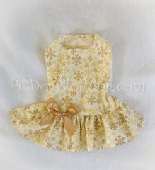 Drop waist Golden Snowflake Dress