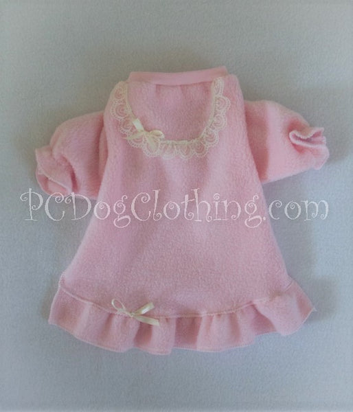 Cozy Pink Fleece Nightgown