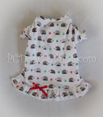 Christmas Hedgehogs Nightgown Long Sleeves