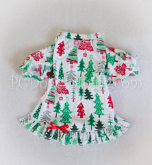 Christmas Trees Nightgown Long Sleeves