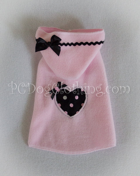 Pink and Black Heart Hoodie Dress