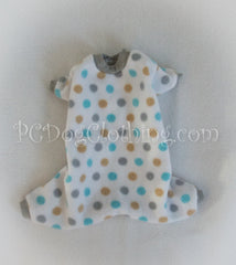 Blue and Gray Polka Dot Pajamas