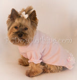 Baby Pink Nightgown Short Sleeves