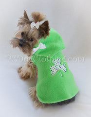 Shamrock Applique Hoodie Dress