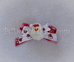 Santa Christmas Hair Bow