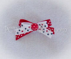 Stars Patriotic Hair Bow