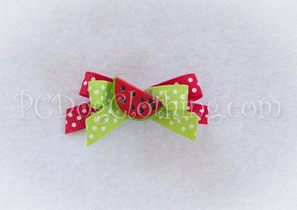 Red Watermelon Hair Bow