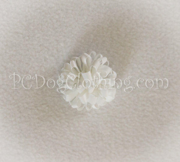 White Loopy Hair Bow SLB1