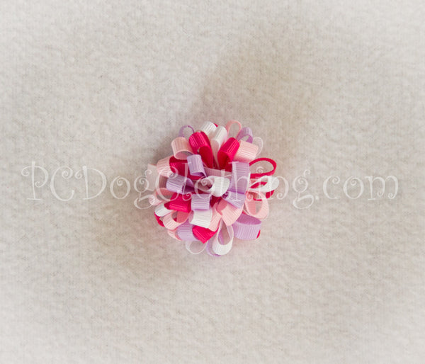 Lavender and Pink Loopy Hair Bow SLB8
