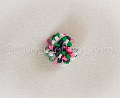 Navy, Green, and Pink Loopy Hair Bow SLB19