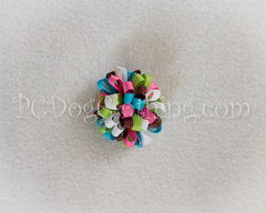 """A Bright Winter"" Loopy Hair Bow SLB36"