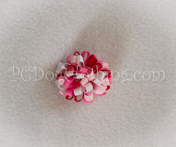 """Valentine's Day"" Loopy Hair Bow SLB51"