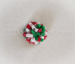"""Christmas"" Loopy Hair Bow SLB52"