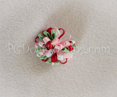 """Christmas Mints"" Loopy Hair Bow SLB55"