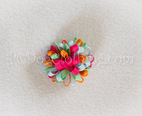 Bright and Pastel Loopy Hair Bow SLB56