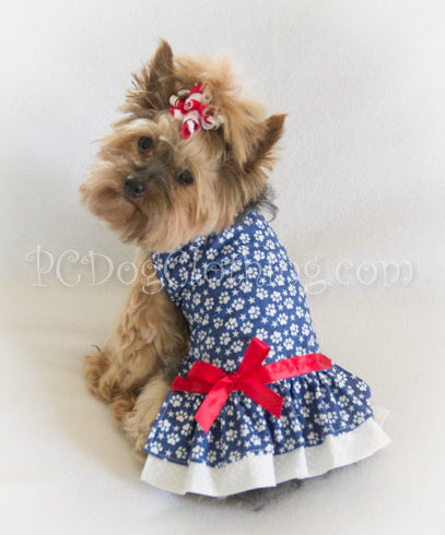 Patriotic Paw Print Dress