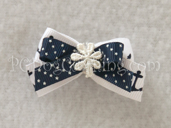 Anchors and Stars Hair Bow