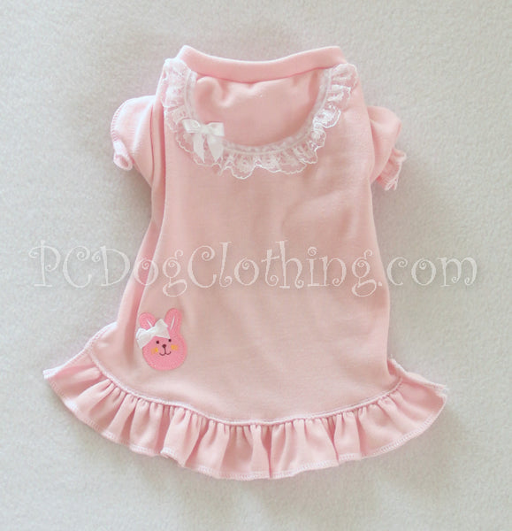 Pink Bunny Nightgown Short Sleeves