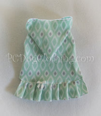 Pretty Mint Pleated Hoodie Dress