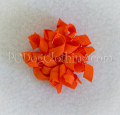 Orange Curly Hair Bow SCB2