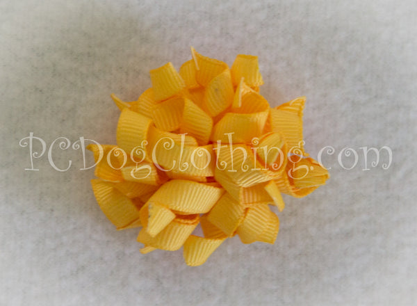 Gold Curly Hair Bow SCB4