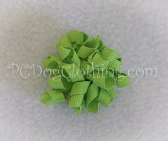 Lime Curly Hair Bow SCB5