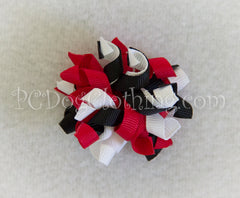 Winter Penguin Curly Hair Bow SCB6