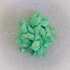 Mint Curly Hair Bow SCB12