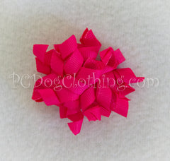Bright Pink Curly Hair Bow SCB13