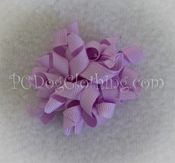 Lavender Curly Hair Bow SCB18