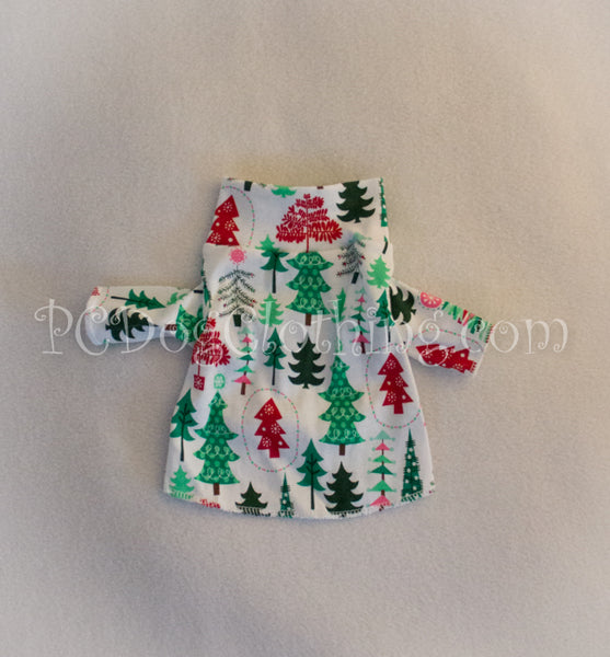 Christmas Trees Mock Turtleneck