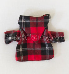 Red and Black Plaid Hoodie (Clearance)