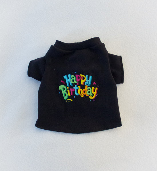 Happy Birthday Black T Shirt